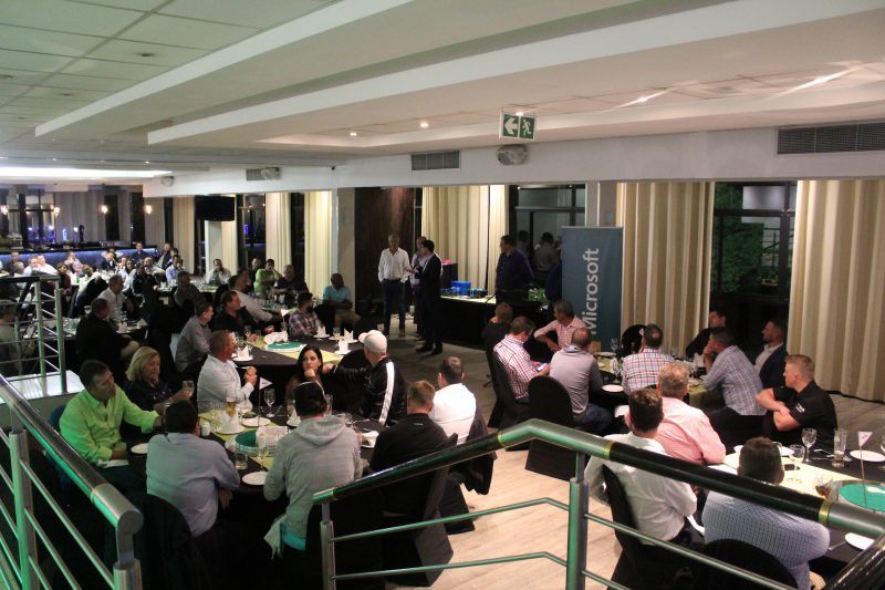 Microsoft partners collaborating at the IAMCP Golf Day Dinner 2018